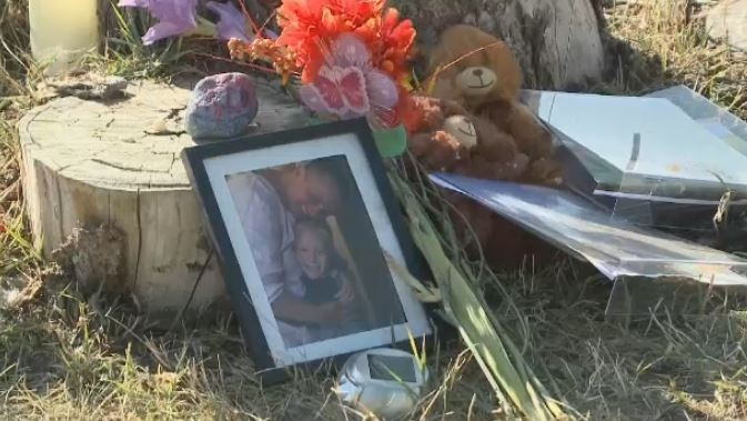 A memorial set up near Echo Lake remembering Tamaine and Greagan Geldenhuys.