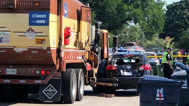 truck crash etobicoke