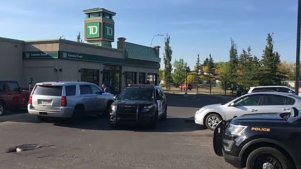 Police say an armed man entered the TD Bank on Castleridge Boulevard on September 5, 2016 and opened fire. The weapon is believed to be an imitation.