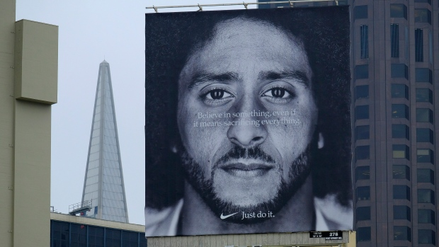 Colin Kaepernick's Nike ad airs during National Football League  home opener