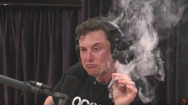 Elon Musk smokes weed on Joe Rogan's podcast