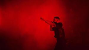 """Drake performs during the """"Aubrey & The Three Amigos Tour"""" in Toronto, Tuesday August 21, 2018. THE CANADIAN PRESS/Mark Blinch"""