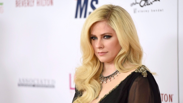 Avril Lavigne arrives at the 25th annual Race to Erase MS Gala at The Beverly Hilton hotel in Beverly Hills, Calif., on April 20, 2018. (THE CANADIAN PRESS/AP, Invision - Chris Pizzello)