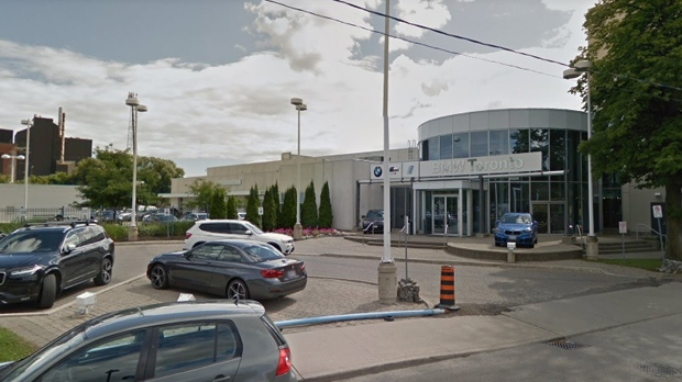The downtown Toronto BMW dealership is seen in a Google Streetview image from Aug., 2017.
