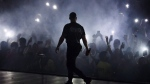 "Drake performs during the ""Aubrey & The Three Amigos Tour"" in Toronto, Tuesday August 21, 2018. (Mark Blinch/ The Canadian Press)"