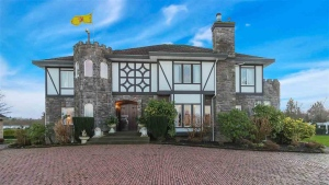"A $5.25-million home for sale in Langley, B.C. is being billed as an ""authentic and fabulous English Tudor estate"" fit for Henry VII himself. There's only one problem: it was built about 400 years after the end of the Tudor period. (RE/MAX Crest Realty / Elizabeth McQueen)"