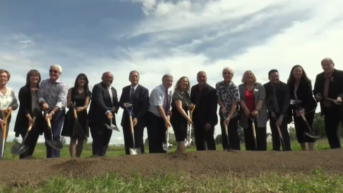 Groundbreaking at the future site of the Gies Family Centre. (Sept. 7, 2018)