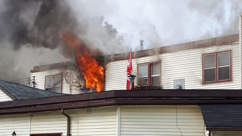 Apartment fire under investigation in Simcoe. (Sept, 8, 2018)