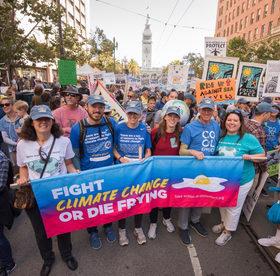 Non-profit organization Cool Effect marches with thousands at the Rise for Climate, Jobs & Justice mobilization on Saturday, Sept. 8, 2018, in San Francisco. (Peter Barreras/AP Images for Cool Effect)
