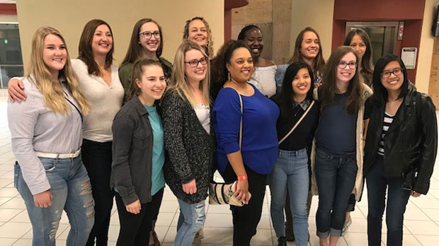 A small group of the 246 women, all named Nicole, who were emailed a note from a young man trying to find a woman he met last week got together on Sunday morning.