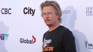 David Spade arrives at the 2018 Stand Up To Cancer event at the Barker Hangar at the Santa Monica airport on Friday, Sept. 7, 2018, in Santa Monica, Calif. (Photo by Willy Sanjuan/Invision/AP)