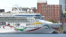Norwegian Dawn cruise ship in Halifax.