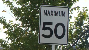 The standard speed limit on city streets is 50 km/h unless otherwise posted.