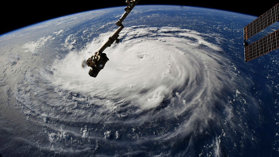 Hurricane Florence as seen from the ISS