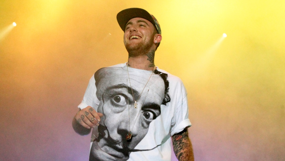 In this July 13, 2013, file photo, Rapper Mac Miller performs on his Space Migration Tour at Festival Pier in Philadelphia. (Photo by Owen Sweeney/Invision/AP, File)