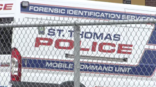 A forensic ID police van.