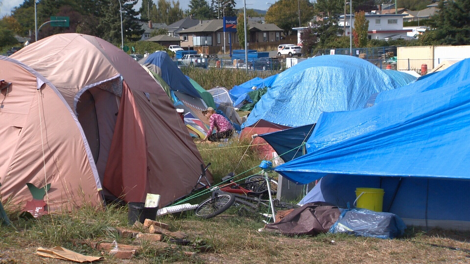 As many prepare to move out of Camp Namegans following a court ruling, some organizers say they'll just move the tent city to a new location. Sept. 10, 2018. (CTV Vancouver Island)
