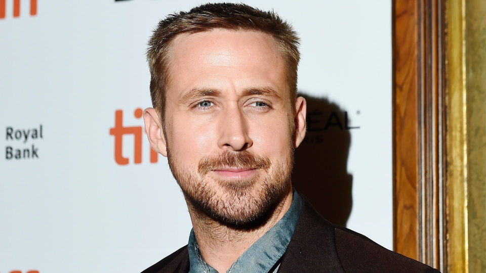 """Actor Ryan Gosling poses for photographs on the red carpet after arriving for the new movie """"First Man"""" during the 2018 Toronto International Film Festival in Toronto on Monday, Sept. 10, 2018. THE CANADIAN PRESS/Nathan Denette"""