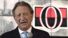 Ottawa Senators owner Eugene Melnyk speaks with the media in Ottawa on September 7, 2017.THE CANADIAN PRESS/Adrian Wyld