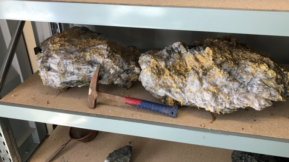 The rocks containing the highest gold content recovered from the Beta Hunt mine are pictured here. (CNW Group/RNC Minerals)