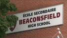 Officials at the Lester B. Pearson school board ordered Beaconsfield High School to remain closed after a threat against a 'BHS' surfaced on social media. (CTV Montreal)