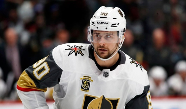 FILE - In this Saturday, March 24, 2018, file photo, Vegas Golden Knights left wing Tomas Tatar (90) skates in the second period of an NHL hockey game against the Colorado Avalanche, in Denver. In a deal announced late Sunday, Sept. 9, 2018, the Vegas Golden Knights have acquired All-Star forward Max Pacioretty from the Montreal Canadiens for Tomas Tatar, prospect Nick Suzuki and a 2019 second-round pick. (AP Photo/David Zalubowski, File)