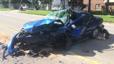 Head-on collision sends passenger to hospital