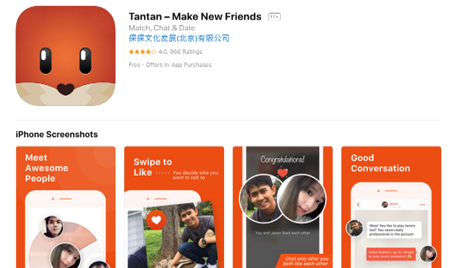 Tantan dating app usa