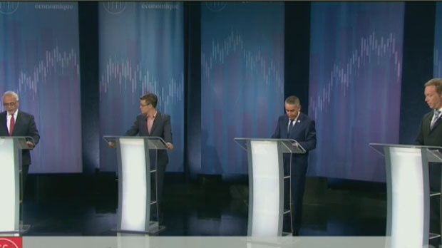 Representatives for the Liberals, Coalition Avenir Quebec, Parti Quebecois and Quebec Solidaire faced off on a debate over public finances on Tues., Sept. 11, 2018.