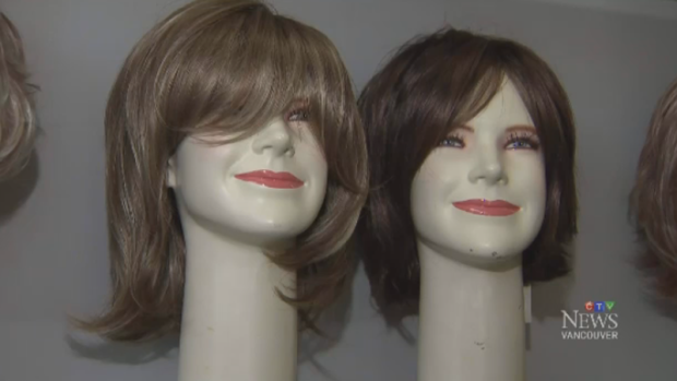 The wigs for sick children are made with donated virgin hair, which means it hasn't been dyed.