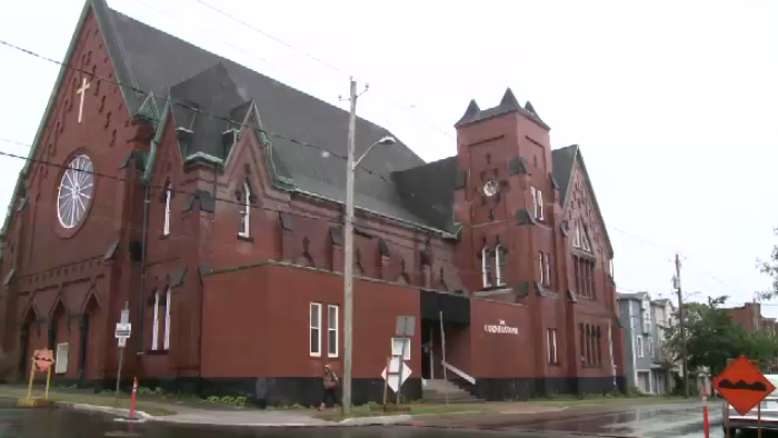 The former Cornerstone Baptist Church on Waterloo Street in Saint John is being turned into a banquet hall.