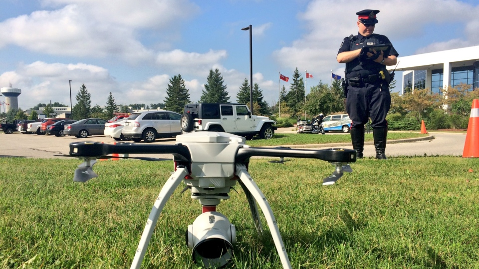 Crime scenes in Waterloo Region will now be documented from the sky after the Waterloo Regional Police unveiled their latest purchase Sept. 12, 2018.