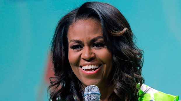 In this June 22, 2018 file photo, former first lady Michelle Obama speaks at the American Library Association annual conference in New Orleans.  (AP Photo/Gerald Herbert)