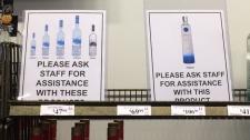 Premium liquor bottles