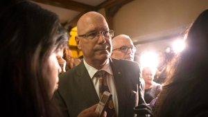 Steve Clark Ontario Minister of municipal affairs turns after scrumming with reporters following Question Period at the Ontario Legislature in Toronto, on Wednesday, September 12, 2018. THE CANADIAN PRESS/Chris Young