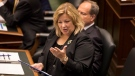 Lisa Thompson Ontario Minister for Education attends Question Period at the Ontario Legislature in Toronto, on Wednesday, September 12, 2018. THE CANADIAN PRESS/Chris Young