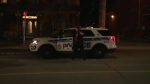 A woman fell from a second floor balcony in Sandy Hill Wednesday night
