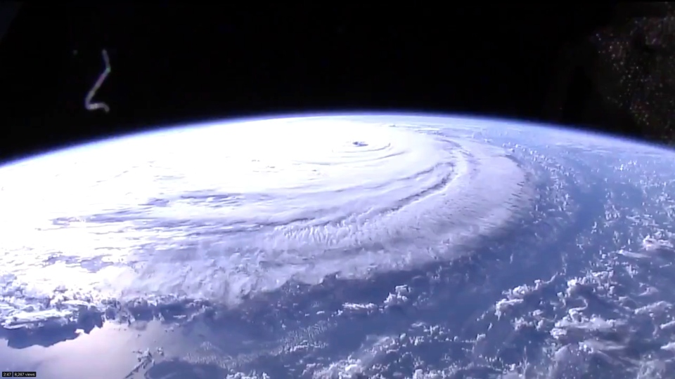 This image provided by NASA shows Hurricane Florence from the International Space Station on Wednesday, Sept. 12, 2018, as it threatens the U.S. East Coast. (NASA via AP)