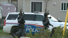 Armed Sudbury police officers in Garson