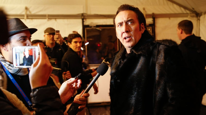 Nicolas Cage at the premiere of 'Mandy' during the 2018 Sundance Film Festival on Jan. 19, 2018, in Park City, Utah. (Danny Moloshok / Invision / AP)