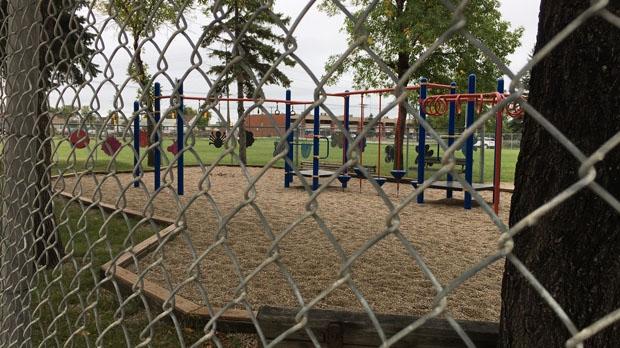 The playground at Weston School. (Jeff Keele/CTV News.)