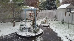 A snowy backyard view posted online on Thursday, September 13, 2018. (Twitter/@wbuedmonton)
