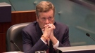 Toronto Mayor John Tory sits in the Council Chamber at Toronto City Hall, on Thursday September 13, 2018. THE CANADIAN PRESS/Chris Young