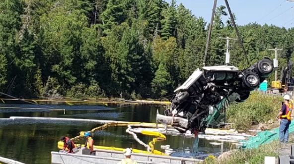 Transport removal from Angus Lake