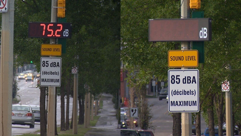 A City of Edmonton spokesperson confirmed that all four of the city's sound monitoring display boards have been turned off.