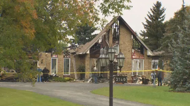West St. Paul's fire chief confirmed the blaze was caused by lighting.