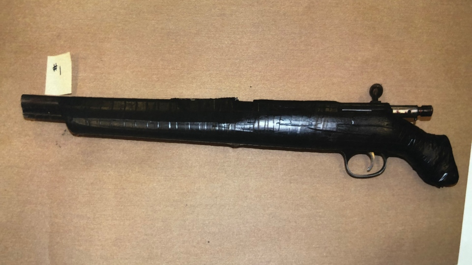 A gun recovered at the crime scene. (Court exhibit)