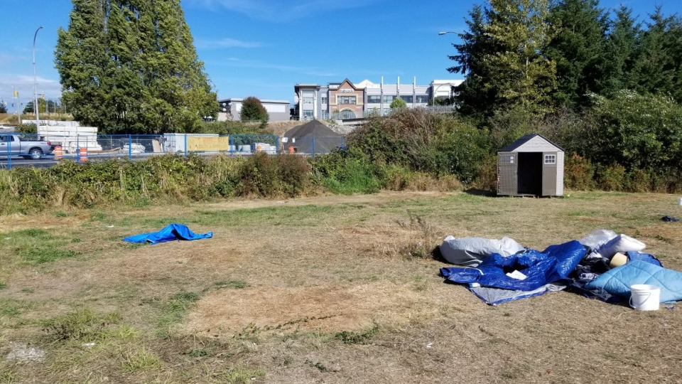 Saanich's Regina Park is now vacant for the first time in months after campers left to comply with a court order Thurs., Sept. 13, 2018. (Twitter/@SaanichPolice)