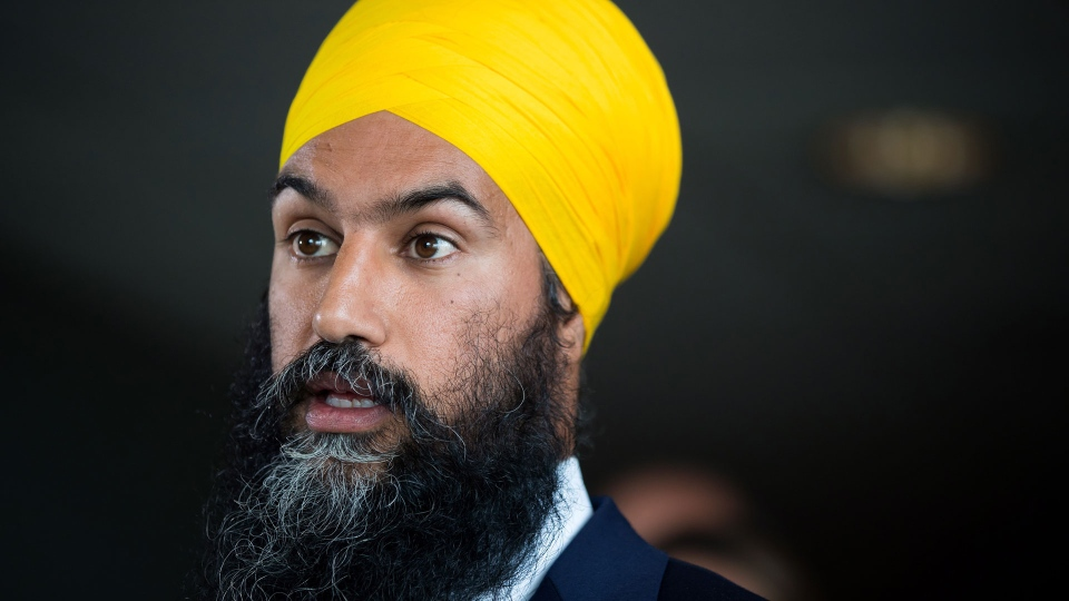 NDP Leader Jagmeet Singh responds to questions after a three-day NDP caucus national strategy session in Surrey, B.C., on Thursday September 13, 2018. THE CANADIAN PRESS/Darryl Dyck