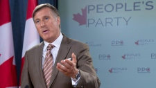 Maxime Bernier announces name of new party